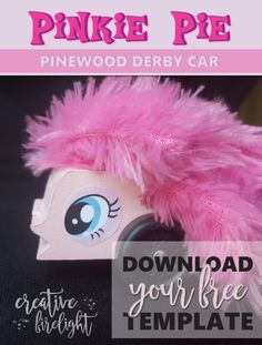 HereS A Pinkie Pie Pinewood Derby Template For All You My Little