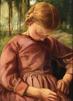 Petite Paysanne-Leon Frederic (1856 – 1940, Belgian)