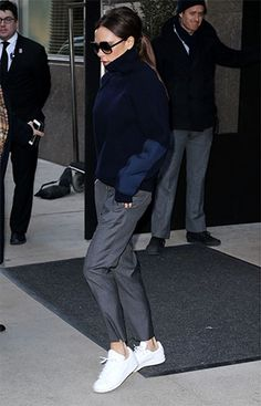 Mrs Victoria Beckham sporting some classic Stan Smiths during NYFW Rihanna  Sneakers d541d31e8
