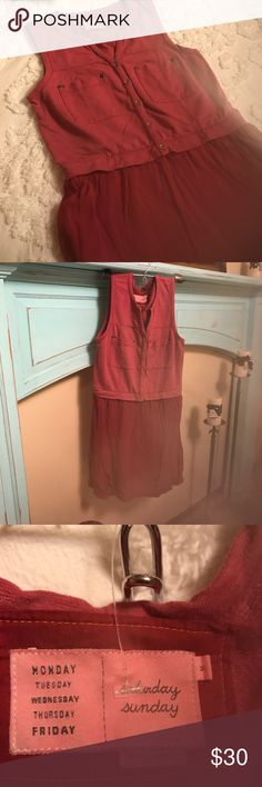 Dress for Comfort I wish I could wear this dress but just to small for me! It is made out of sweat shirt material and oh so soft! Adorable dress! In new condition. Color is burgandy. Saturday Sunday Dresses Mini