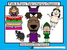 In Folk and Fairy Tales Literacy Classics, learners ponder events, character traits and the central message of six fun, lively and familiar stories. This center, game or cooperative learning tool includes 30 task cards, links to stories, directions to the teacher, key and 2 award cards.