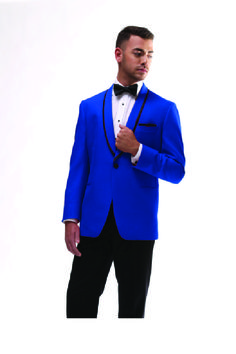 The Connor Blue Tuxedo available at Milroy's Tuxedos. Find more at www.MilroysTuxedos.com