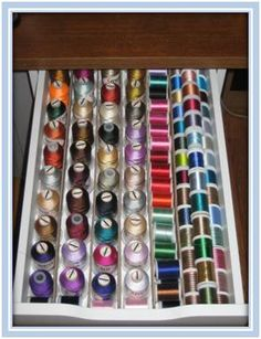 It's looking like these drawers are pretty much a must to keep the threads organized.