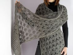 Luxurious Hand Knitted Wrap Shawl Stole | by silvia66