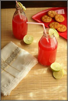 Pomegranate and lime juice