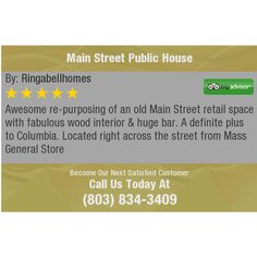 Awesome re-purposing of an old Main Street retail space with fabulous wood interior & huge...