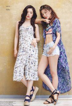 Red Velvet- Seulgi and Irene Irene Red Velvet, Red Velvet Seulgi, Velvet Sky, Korean Girl, Asian Girl, Red Velvet Photoshoot, Red Velet, Oppa Gangnam Style, Mode Ulzzang