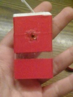 Tic tac box idea! This photo is mine! Go to becreative.cafeblog.hu for more diy crafts and ideas! #tictac #box #diy #red