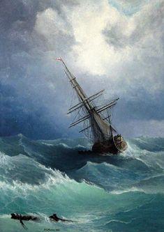 Seascape Painting - Storm by Mikhail Savchenko