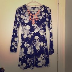 Floral long sleeved dress  Floral long sleeved dress; never worn, w/o necklace Dresses Long Sleeve