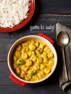 Gatte ki sabji recipe with step by step pics. Gatte ki sabji is a popular gravy based dish from the Rajasthani cuisine. Gatta or gatte (plural) are gram flour (besan) roundels which are added to a curd based gravy.