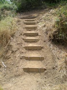 wooden garden steps on a slope - Google Search