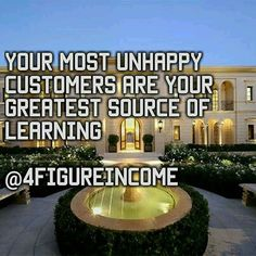 Your most unhappy customers are your greatest source of learning  Like if you agree👍  #outdoors #architecture #luxury #travel #traveling #visiting #instatravel #instago #tree #hotel #house #city #sky #cloud #entrance #tourism #wealth #street #flower #illuminated #mansion #luxury #house #sky #business #wealth #4figureincome