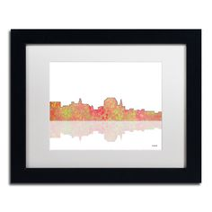 Augusta Maine Skyline III by Marlene Watson Framed Graphic Art
