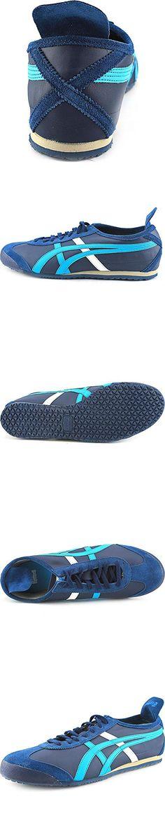 Onitsuka Tiger Mexico 66 Fashion Sneaker, Navy/Atomic Blue, 10.5 M Men's US/12 Women's M US