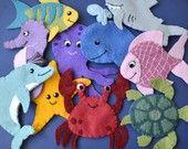 Chompy the Shark One Handmade Wool Blend Felt Finger por stayawake Felt Puppets, Felt Finger Puppets, Baby Quiet Book, Quiet Books, Birdhouse Craft, Felt Board Stories, Felt Patterns, Diy Crafts, Shoebox Crafts