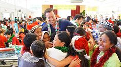 New/old unseen pictures of Alex at the Hawaii Five-0 cast and crew annual toy giveaway in 2013.