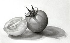 This is a strong example of a simple still life drawing with a definite light source.