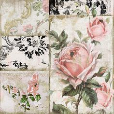 Vintage Paris Shabby Tea Roses Painting - Shabby Pink Tea Roses by Mindy Sommers