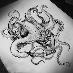 Every hour I publish the most interest… – Octopus Tattoo Octopus Anchor Tattoos, Octopus Tattoo Sleeve, Kraken Tattoo, Squid Tattoo, Octopus Tattoo Design, Leg Tattoos, Arm Tattoo, Body Art Tattoos, Sleeve Tattoos
