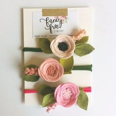 Your place to buy and sell all things handmade Felt Flowers, Diy Flowers, Fabric Flowers, Paper Flowers, Baby Crafts, Felt Crafts, Diy And Crafts, Felt Headband, Flower Headbands