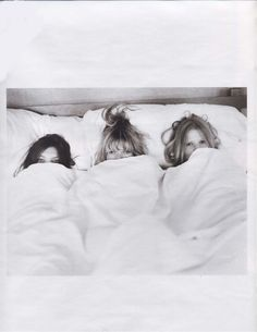 Daria Werbowy, Kate Moss & Lara Stone photographed by Bruce Weber.