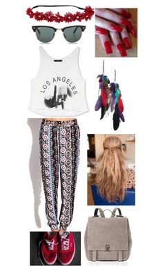"""""""Sen título #72"""" by minionslove ❤ liked on Polyvore featuring Forever 21, Ray-Ban and Proenza Schouler"""