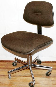 Mid Century Modern All Steel Vintage Industrial Office Task Chair Mad Men  Office Desk Task Chair Ca. Condition: No Dents In The Metal, No