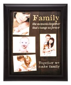 This 'Together We Make Family' Collage Frame by Creative Products is perfect! #zulilyfinds