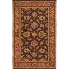 Art of Knot Waverly Hand Tufted Wool Area Rug, 5' x 8', Brown