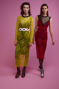 Looks 33 & 34 from the DVF Winter 2017/2018 collection. Delivering from November 2017.