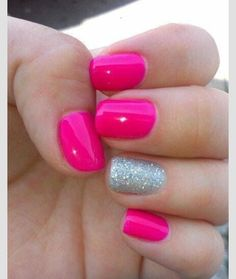 Bright pink and silver<3