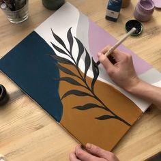 Simple Canvas Paintings, Diy Canvas Art, Easy Paintings, Diy Wall Art, Acrylic Art, Diy Painting, Watercolor Art, Art Drawings, Artsy