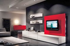 Room ideas red living room decor red and black living room red and black ro Bold Living Room, Living Room Modern, Living Room Interior, Living Room Designs, Living Room Furniture, Living Room Decor, Living Rooms, Decor Room, Small Living