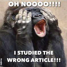 Wrong article