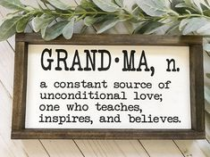 Mother's Day Gift, Grandma Wood Sign, Pregnancy Announcement Idea, Grandparent's Wood Sign, Modern F Grandma sign Grandmas Mothers Day Gifts, Mothers Day Crafts For Kids, Grandparents Day, Mother Day Gifts, Mothers Day Ideas, Diy Gifts For Grandma, Mothers Day Signs, Quotes Girlfriend, Daughter Quotes