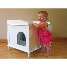 Shop Designer Catbox Hidden Litter Box Enclosure Furniture - Overstock - 7638119 Cat Furniture, Furniture Deals, Hidden Litter Boxes, Litter Box Enclosure, Litter Pan, Cat Tunnel, Brown Cat, Dogs And Kids, Cat Supplies