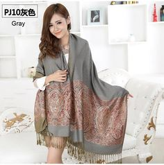 ea1c2dcb12875 from india hot sale 2015 new air conditioning room warm winter women shawl  chaddar pashmina national wind cashew spend