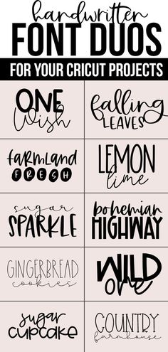 Free Pretty Fonts For Cricut Best Cricut Access FontsBest script fonts in Cricut Design Space - plus a printable cheat sheet to save for later! cricut designspace cricutfontsHandwritten FONT DUOS Free Pretty Fonts For Cricut Hand Lettering Fonts, Handwritten Fonts, Lettering Tutorial, Lettering Styles, Monogram Fonts, Monogram Letters, Script Writing Fonts, Best Script Fonts, Free Monogram