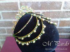 Green-gold ballet headpiece La Esmeralda by mpardovicouture