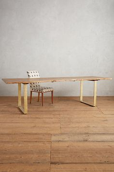 """37"""" Slide View: 2: Smoked Oak Dining Table"""