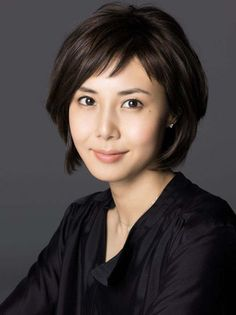 "Matsushima Nanako - Seen her in : ""Great Teacher Onizuka"", ""Hotaru No Haka"", ""Majou No Jouken"" and ""Kaseifu No Mita"". Oval Face Haircuts, Trendy Haircuts, Haircuts With Bangs, Short Haircuts, Shot Hair Styles, Long Hair Styles, Asian Short Hair, Short Bangs, Oval Faces"