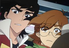 Keith and Pidge from Voltron Legendary Defender