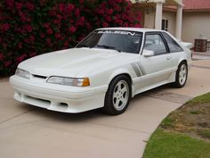 1993 Saleen RRR Mustang (tim allen's car) I actually had a small part in the production of this car.I picked up the tool belts for the seats! Saleen Mustang, 1993 Ford Mustang, Mustang Hatchback, Fox Body Mustang, Amc Javelin, Ford Lincoln Mercury, Pony Car, Ford Motor Company, Hot Cars