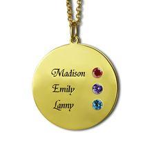 Kámen náhrdelník pro mámu v Gold Personalizované název disku náhrdelník rytého Childrens Jméno náhrdelník Best Memory Šperky (Čína (pevninská část))