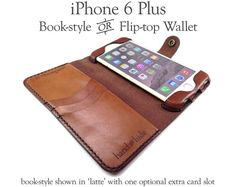 iPhone 6 Plus Leather Wallet / Case / Cover no by HANDandHIDE