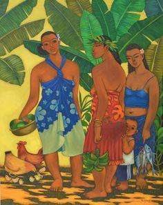 31 New Ideas for banana tree illustration galleries Tahiti, Family Tree With Pictures, Family Tree Designs, Artistic Visions, Polynesian Art, Hawaiian Art, Caribbean Art, Shadow Art, Vintage Hawaii