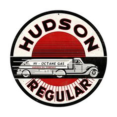 Hudson Gasoline Vintage Metal Sign. There is so much to so with his name I am so excited. Feb 14th cant get her quick enough : )