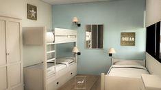 """Le bleu du mur ppur la chambre """" maison de la mer"""""""