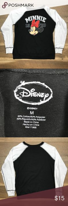 Disney Minnie Tee Disney Minnie screen print tee. 60% cotton 40% polyester. Great condition. Disney Tops Tees - Long Sleeve